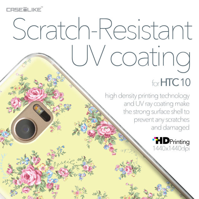 HTC 10 case Floral Rose Classic 2264 with UV-Coating Scratch-Resistant Case | CASEiLIKE.com