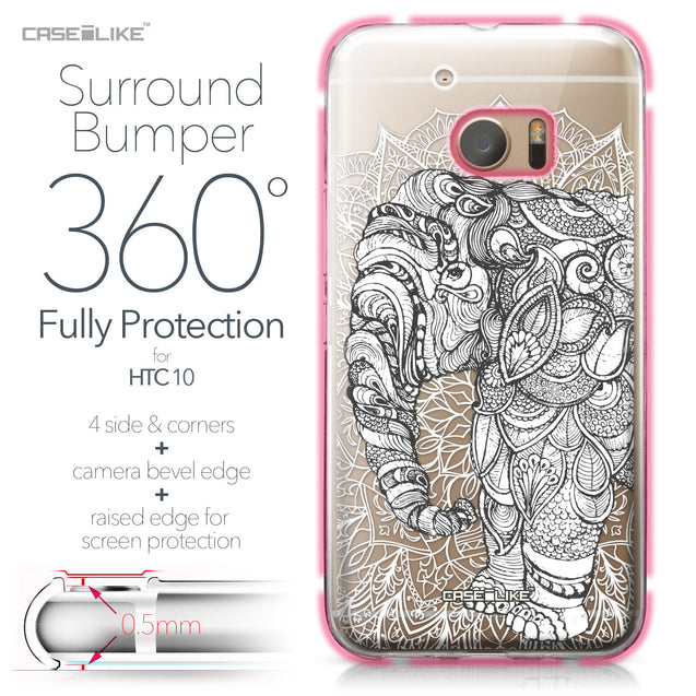 HTC 10 case Mandala Art 2300 Bumper Case Protection | CASEiLIKE.com