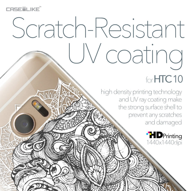 HTC 10 case Mandala Art 2300 with UV-Coating Scratch-Resistant Case | CASEiLIKE.com