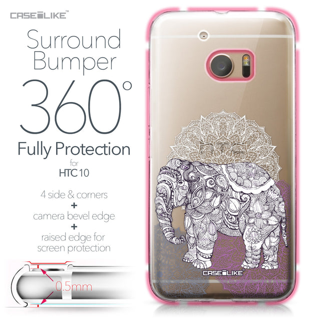 HTC 10 case Mandala Art 2301 Bumper Case Protection | CASEiLIKE.com