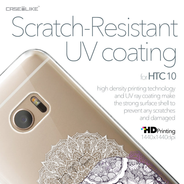 HTC 10 case Mandala Art 2301 with UV-Coating Scratch-Resistant Case | CASEiLIKE.com