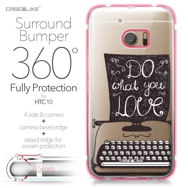 HTC 10 case Quote 2400 Bumper Case Protection | CASEiLIKE.com