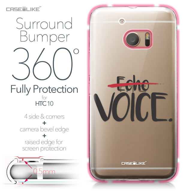 HTC 10 case Quote 2405 Bumper Case Protection | CASEiLIKE.com