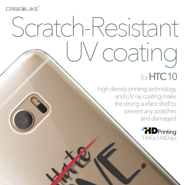 HTC 10 case Quote 2406 with UV-Coating Scratch-Resistant Case | CASEiLIKE.com