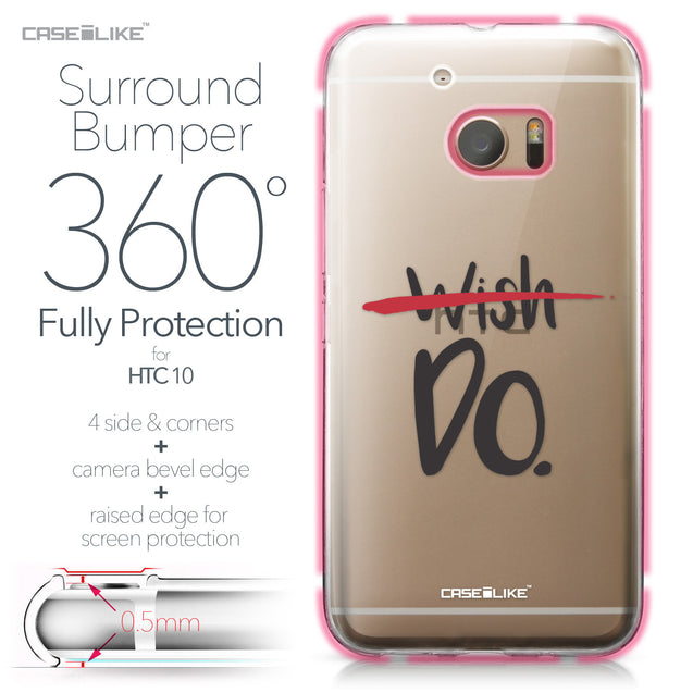 HTC 10 case Quote 2407 Bumper Case Protection | CASEiLIKE.com