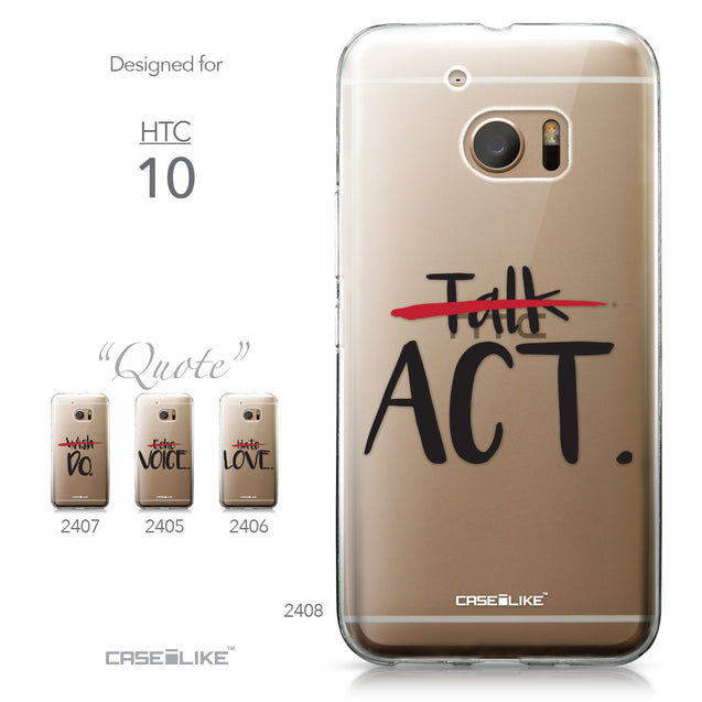 HTC 10 case Quote 2408 Collection | CASEiLIKE.com
