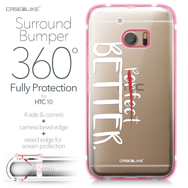 HTC 10 case Quote 2410 Bumper Case Protection | CASEiLIKE.com