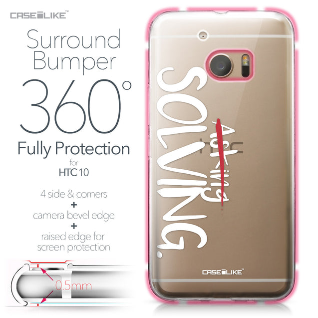 HTC 10 case Quote 2412 Bumper Case Protection | CASEiLIKE.com