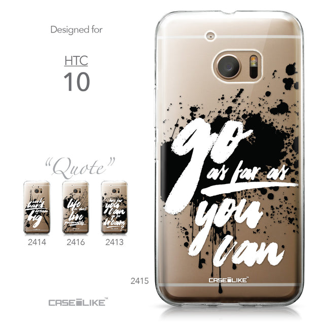 HTC 10 case Quote 2415 Collection | CASEiLIKE.com