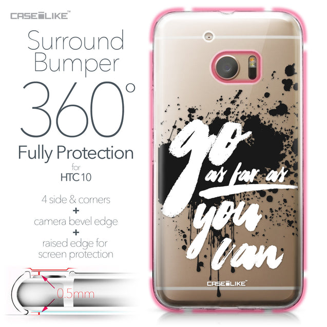 HTC 10 case Quote 2415 Bumper Case Protection | CASEiLIKE.com