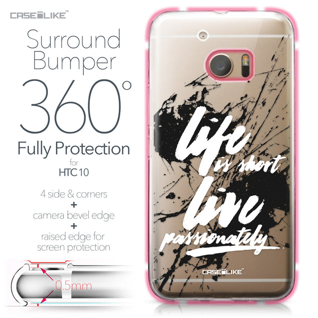 HTC 10 case Quote 2416 Bumper Case Protection | CASEiLIKE.com