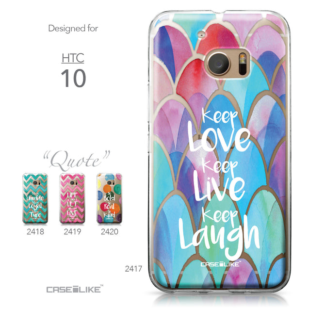 HTC 10 case Quote 2417 Collection | CASEiLIKE.com