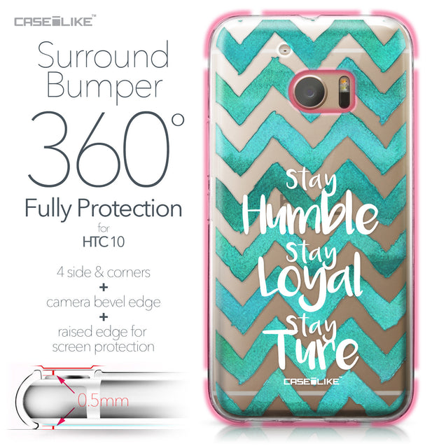 HTC 10 case Quote 2418 Bumper Case Protection | CASEiLIKE.com