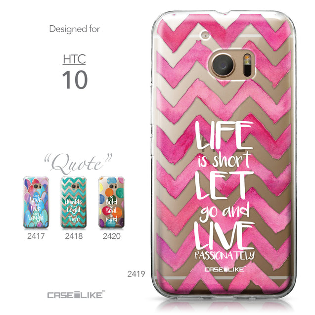 HTC 10 case Quote 2419 Collection | CASEiLIKE.com