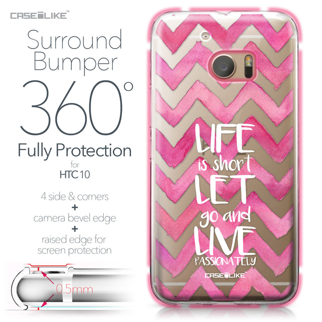 HTC 10 case Quote 2419 Bumper Case Protection | CASEiLIKE.com