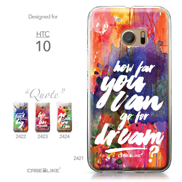 HTC 10 case Quote 2421 Collection | CASEiLIKE.com