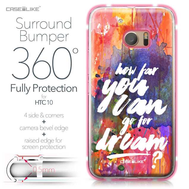 HTC 10 case Quote 2421 Bumper Case Protection | CASEiLIKE.com