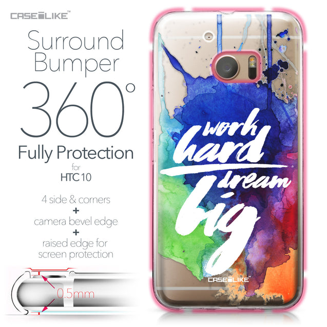 HTC 10 case Quote 2422 Bumper Case Protection | CASEiLIKE.com