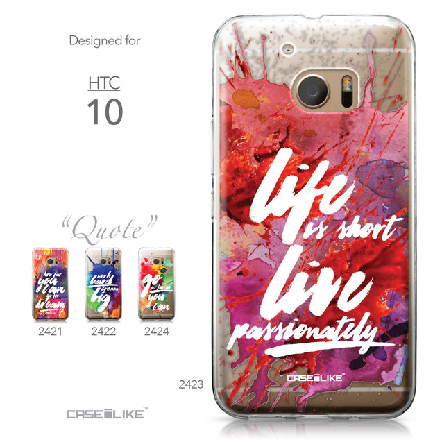 HTC 10 case Quote 2423 Collection | CASEiLIKE.com