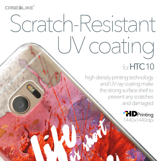 HTC 10 case Quote 2423 with UV-Coating Scratch-Resistant Case | CASEiLIKE.com