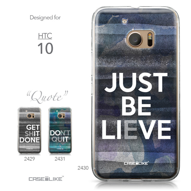 HTC 10 case Quote 2430 Collection | CASEiLIKE.com