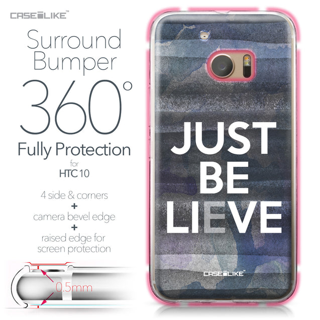 HTC 10 case Quote 2430 Bumper Case Protection | CASEiLIKE.com