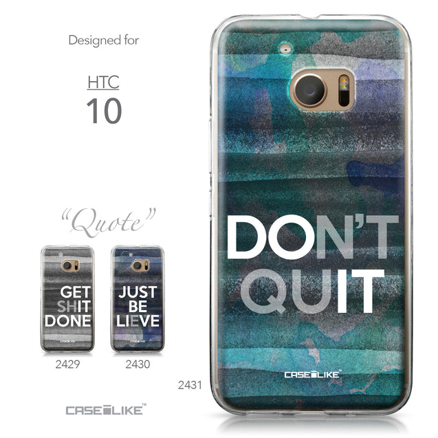 HTC 10 case Quote 2431 Collection | CASEiLIKE.com
