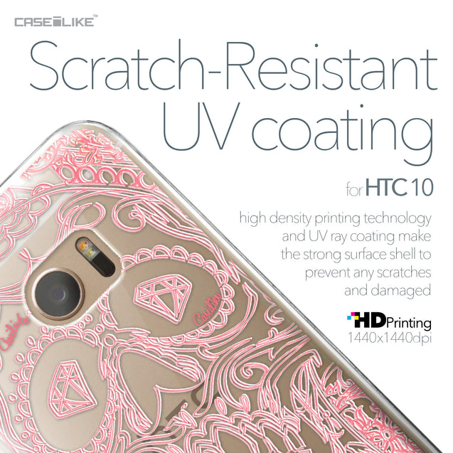 HTC 10 case Art of Skull 2525 with UV-Coating Scratch-Resistant Case | CASEiLIKE.com