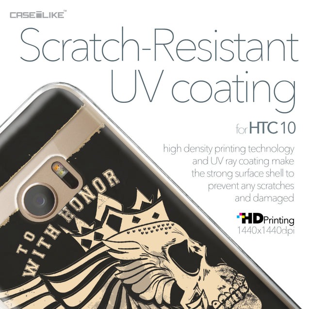 HTC 10 case Art of Skull 2529 with UV-Coating Scratch-Resistant Case | CASEiLIKE.com