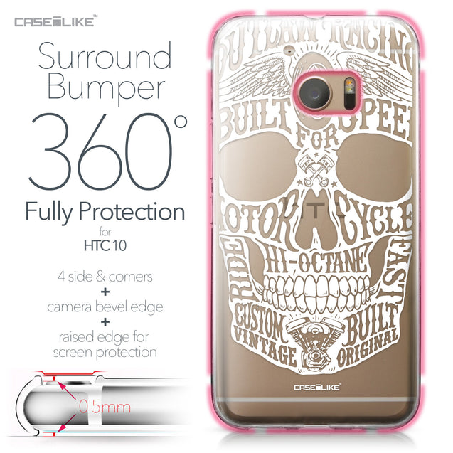 HTC 10 case Art of Skull 2530 Bumper Case Protection | CASEiLIKE.com