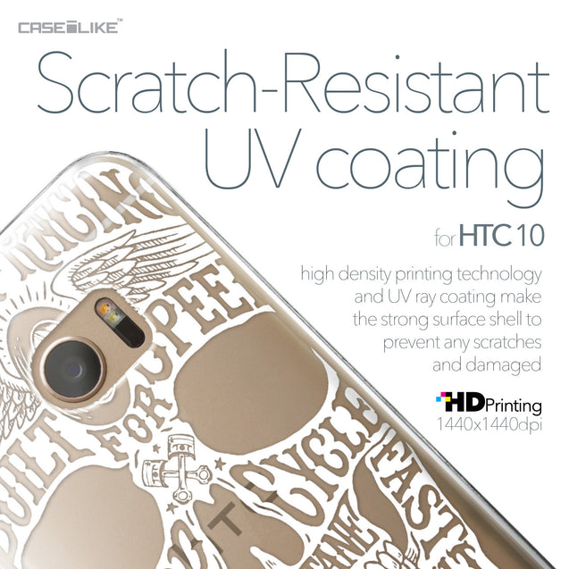 HTC 10 case Art of Skull 2530 with UV-Coating Scratch-Resistant Case | CASEiLIKE.com