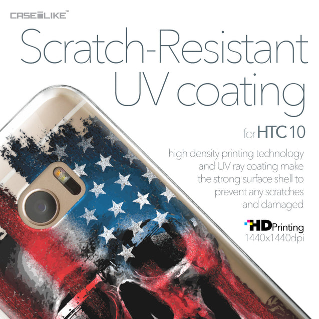 HTC 10 case Art of Skull 2532 with UV-Coating Scratch-Resistant Case | CASEiLIKE.com