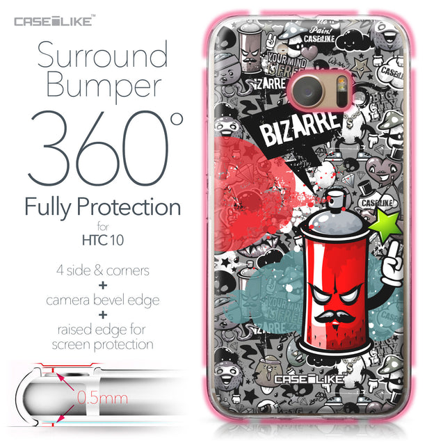 HTC 10 case Graffiti 2705 Bumper Case Protection | CASEiLIKE.com