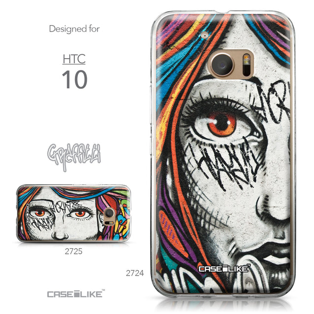 HTC 10 case Graffiti Girl 2724 Collection | CASEiLIKE.com