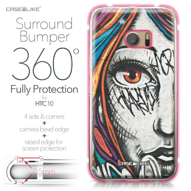 HTC 10 case Graffiti Girl 2724 Bumper Case Protection | CASEiLIKE.com