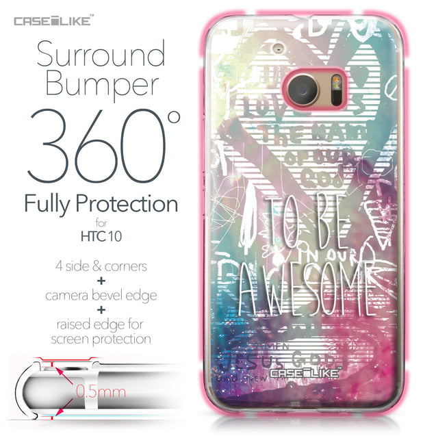 HTC 10 case Graffiti 2726 Bumper Case Protection | CASEiLIKE.com