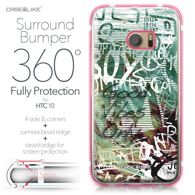 HTC 10 case Graffiti 2728 Bumper Case Protection | CASEiLIKE.com