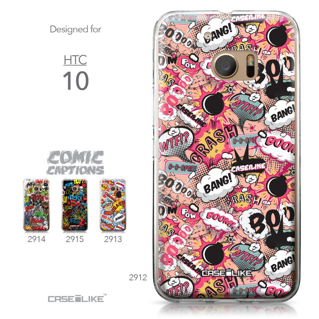 HTC 10 case Comic Captions Pink 2912 Collection | CASEiLIKE.com