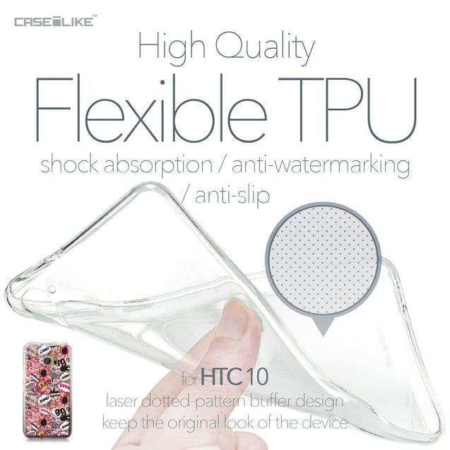 HTC 10 case Comic Captions Pink 2912 Soft Gel Silicone Case | CASEiLIKE.com