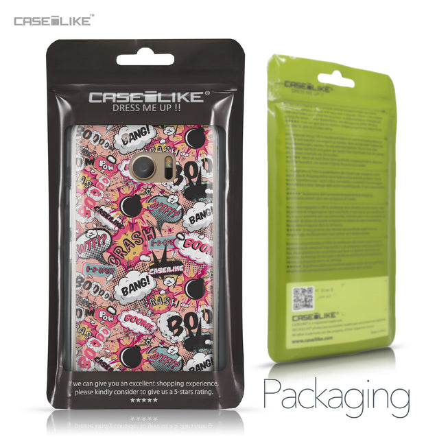 HTC 10 case Comic Captions Pink 2912 Retail Packaging | CASEiLIKE.com