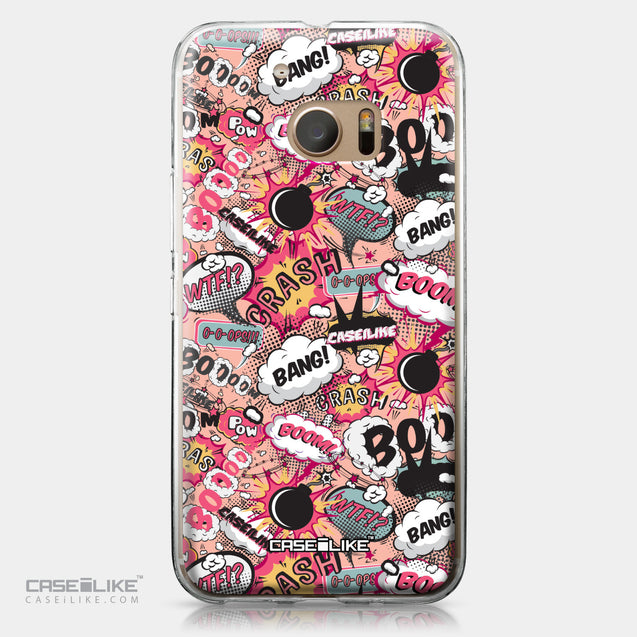 HTC 10 case Comic Captions Pink 2912 | CASEiLIKE.com