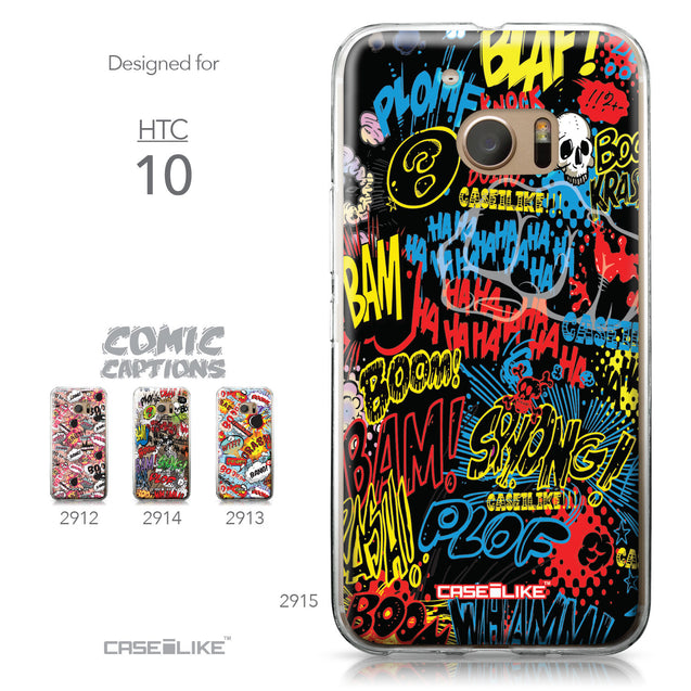 HTC 10 case Comic Captions Black 2915 Collection | CASEiLIKE.com