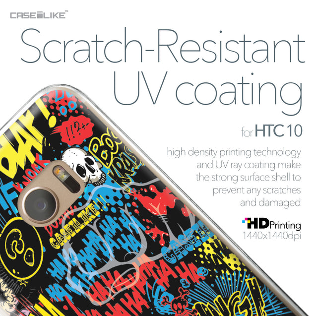 HTC 10 case Comic Captions Black 2915 with UV-Coating Scratch-Resistant Case | CASEiLIKE.com