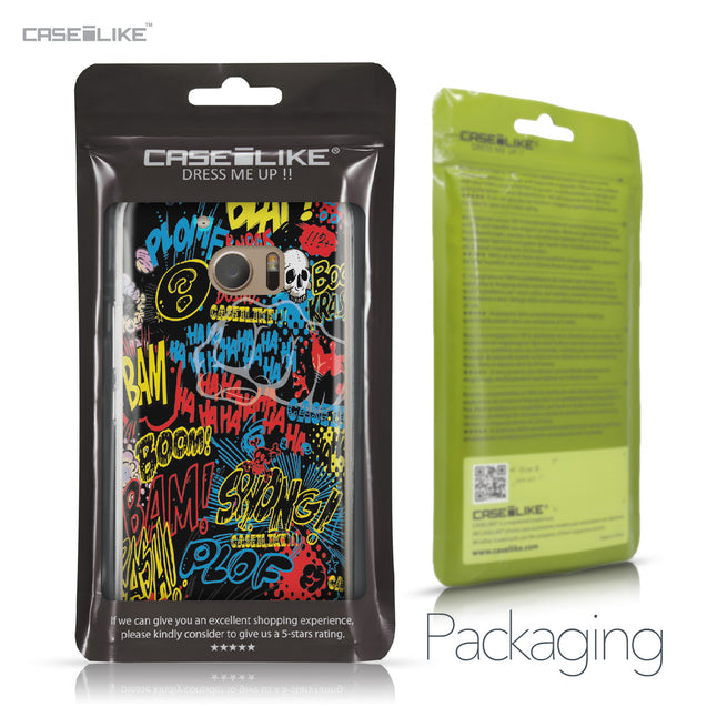 HTC 10 case Comic Captions Black 2915 Retail Packaging | CASEiLIKE.com