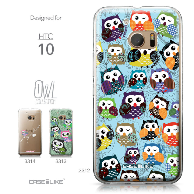 HTC 10 case Owl Graphic Design 3312 Collection | CASEiLIKE.com