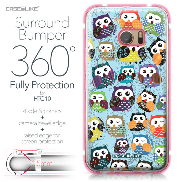 HTC 10 case Owl Graphic Design 3312 Bumper Case Protection | CASEiLIKE.com