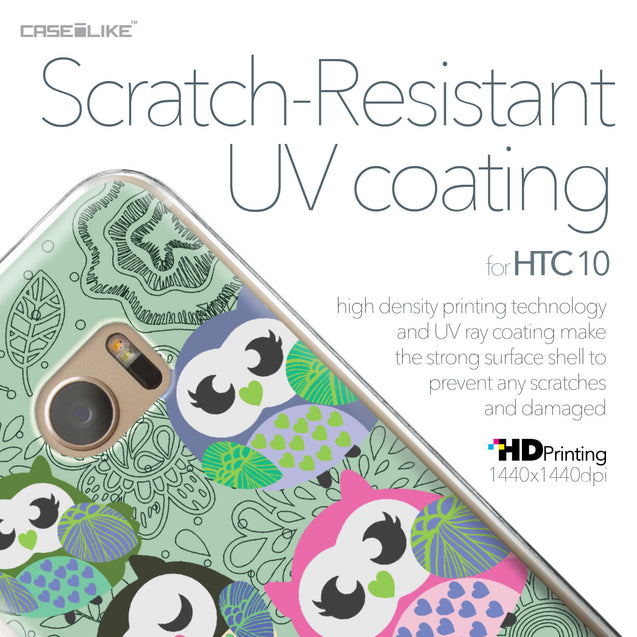 HTC 10 case Owl Graphic Design 3313 with UV-Coating Scratch-Resistant Case | CASEiLIKE.com