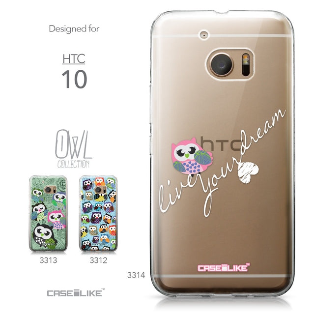 HTC 10 case Owl Graphic Design 3314 Collection | CASEiLIKE.com