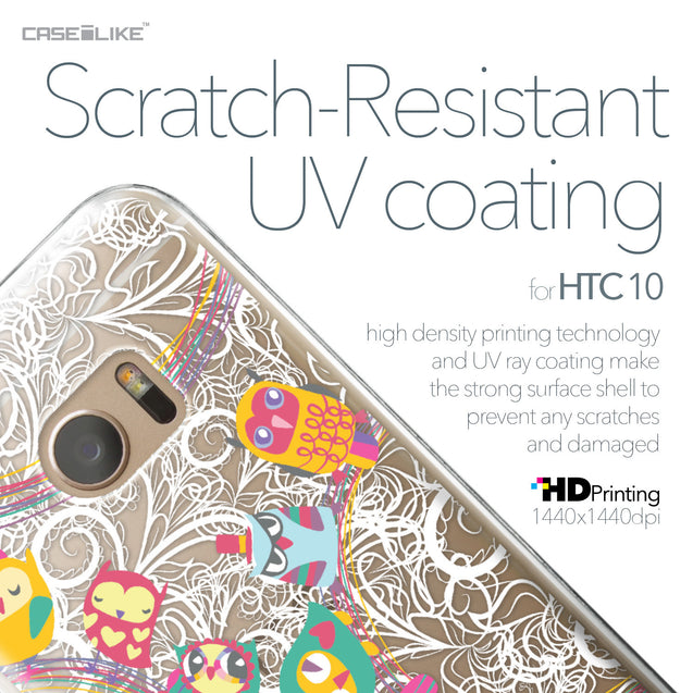 HTC 10 case Owl Graphic Design 3316 with UV-Coating Scratch-Resistant Case | CASEiLIKE.com