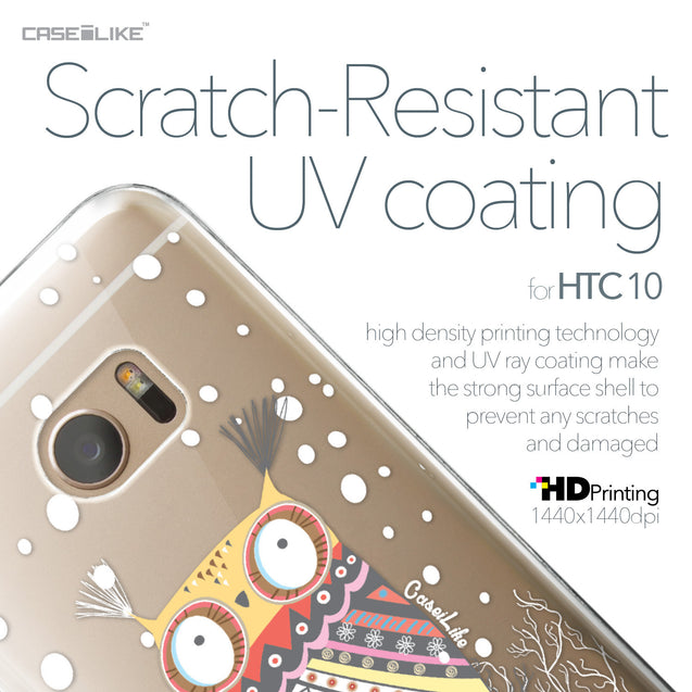 HTC 10 case Owl Graphic Design 3317 with UV-Coating Scratch-Resistant Case | CASEiLIKE.com